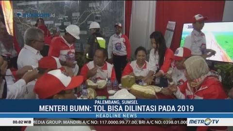 Menteri BUMN Klaim Tol Trans Sumatera Bisa Dilintasi Tahun Depan