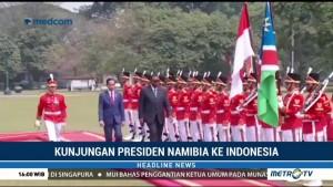 Jokowi Terima Kunjungan Presiden Namibia di Istana Bogor