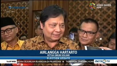 Airlangga Menilai Pelukan Jokowi-Prabowo Simbol Persatuan