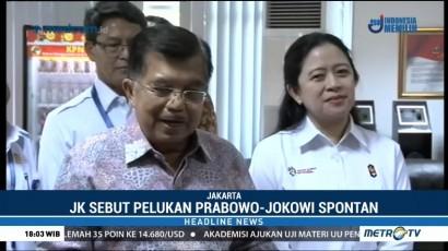 JK Sebut Pelukan Prabowo-Jokowi Spontan