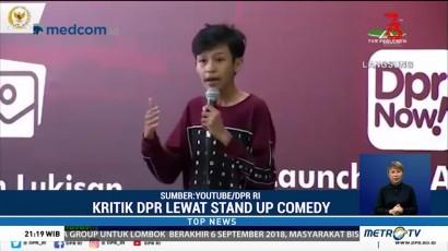 Aksi Komika Cilik Kritik DPR Lewat Stand Up Comedy