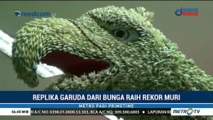 Replika Garuda dari Bunga Sedap Malam Pecahkan Rekor MURI