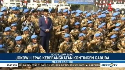 Jokowi Lepas Keberangkatan Kontingen Garuda ke Kongo dan Lebanon