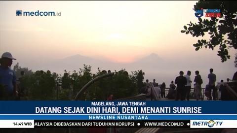 Menikmati Keindahan Sunrise di Bukit Punthuk Setumbu
