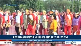 TNI Pecahkan Rekor Tari Gemu Famire dari MURI