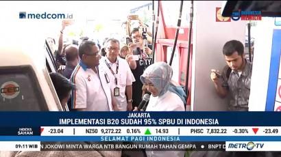 Implementasi B20 Sudah 95% SPBU di Indonesia