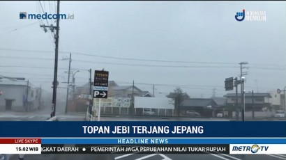 Topan Jebi Terjang Jepang