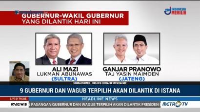 Jokowi Lantik 9 Gubernur Terpilih Pagi Ini