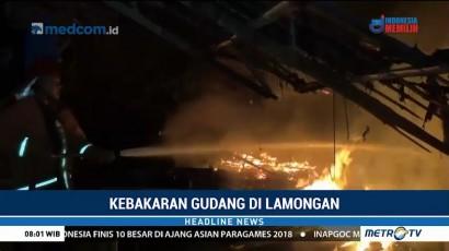 Gudang Pembuatan U-Gatter di Lamongan Terbakar