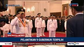 Presiden Jokowi Lantik 9 Gubernur Terpilih