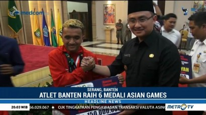 Atlet Peraih Medali Asian Games Terima Bonus dari Pemprov Banten