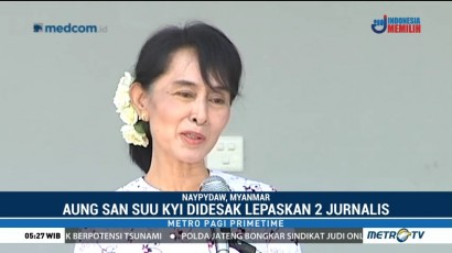 Aung San Suu Kyi Didesak Bebaskan Dua Jurnalis Reuters