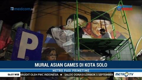 Belasan Muralis Surakarta Abadikan Momen Spesial Asian Games