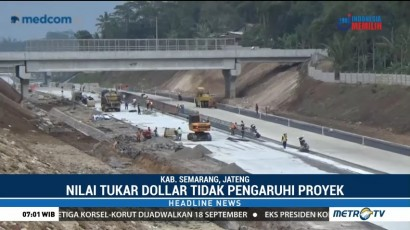 Pembangunan Tol Trans Jawa tak Terpengaruh Pelemahan Rupiah