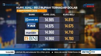 Kurs Rupiah Menguat ke Rp14.859/USD