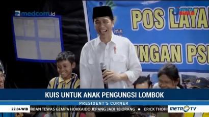 Interaksi Jokowi dengan Anak Pengungsi di Lombok