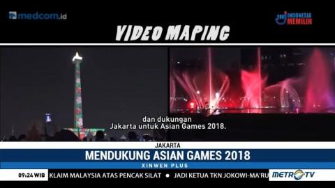 Video Mapping Asian Games di Monas