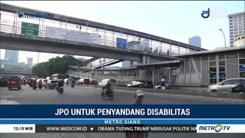 Dua JPO Ramah Disabilitas Ditargetkan Rampung Akhir Tahun
