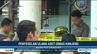 Polisi Segel Ulang Lima Gedung Aset Taat Pribadi
