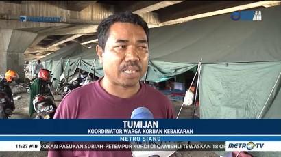 Korban Kebakaran Pademangan Tinggal di Kolong Tol