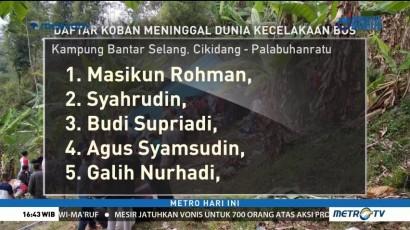 Daftar Nama 21 Korban Tewas Kecelakaan Bus di Sukabumi