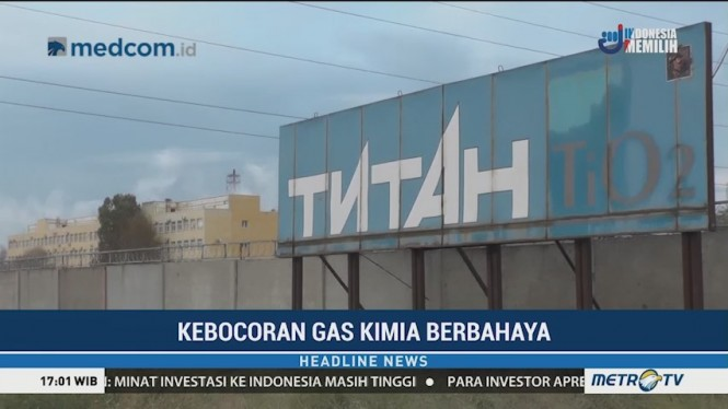Ribuan Warga Crimea Mengungsi Akibat Kebocoran Gas Kimia