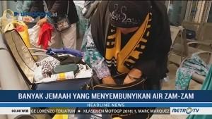 Kedapatan Membawa Air Zam-zam, Koper Jemaah Haji Dibongkar