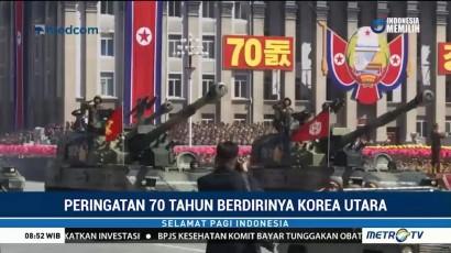 Parade Militer Digelar untuk Peringati 70 Tahun Korut