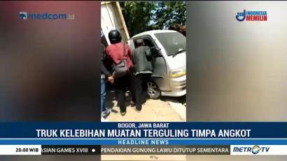 Empat Orang Tewas Akibat Truk Timpa Angkot di Bogor