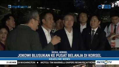 Jokowi Blusukan ke Pusat Belanja di Korsel