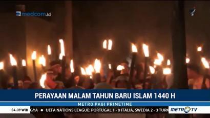 Warga Gelar Pawai Obor Sambut Tahun Baru Islam