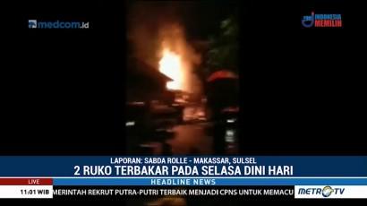 Ruko Terbakar di Jalan Bulukunyi Makassar, Tiga Orang Tewas