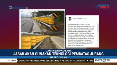 Kurangi Angka Kecelakaan, RK Perkenalkan Teknologi Baru Pembatas Jalan