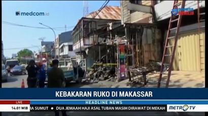 Kebakaran Ruko di Makassar, Tiga Orang Tewas