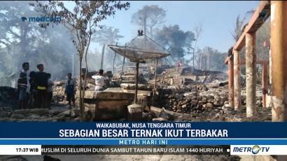 17 Rumah Adat di NTT Ludes Terbakar