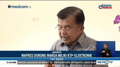 JK Dorong Mendagri Percepat Pembuatan e-KTP untuk Pemilih Pemula