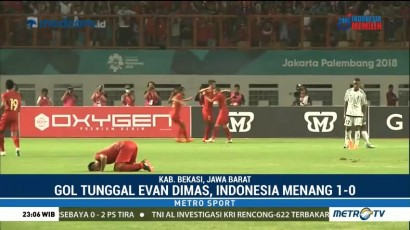 Gol Tunggal Evan Dimas, Indonesia Menang 1-0