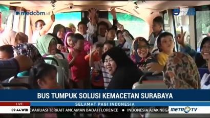 Bus Tumpuk Solusi Kemacetan Surabaya