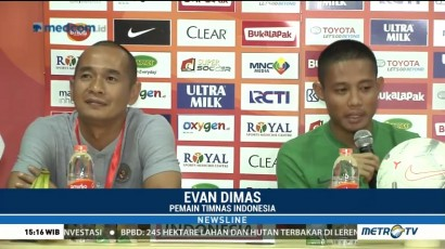 Evan Dimas Siap Hadapi Piala AFF Tanpa Luis Milla