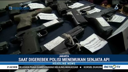 Polisi Temukan Puluhan Senjata Api di Rumah DPO Kasus Narkoba