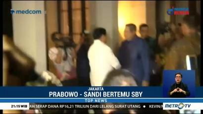 Prabowo-Sandi Bertemu SBY di Mega Kuningan