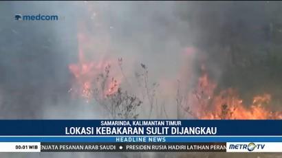 Sekitar 10 Hektare Lahan Gambut di Samarinda Terbakar