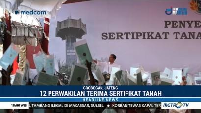 Jokowi Bagikan 55 Ribu Sertifikat Tanah di  Grobogan