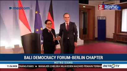 Menlu Retno Hadiri Bali Democracy Forum Chapter Berlin
