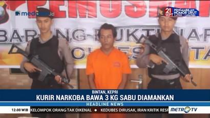 Polisi Tangkap Kurir Sabu Seberat 3 Kg