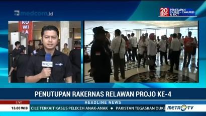 Jokowi akan Hadiri Penutupan Rakernas Relawan Projo