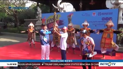 Obor Asian Para Games Diarak Keliling Bali