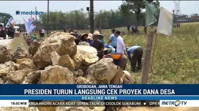 Pantau Proyek Dana Desa, Jokowi Terjun ke Sawah