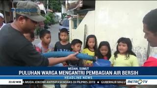 BPBD Sumut Distribusikan Air Bersih
