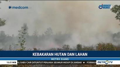 Kebakaran Lahan di Palangka Raya Dekati Permukiman Warga